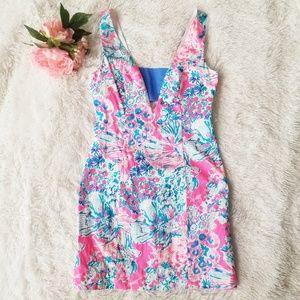 Lilly Pulitzer Cassa Shift Dress 00 XXS Tiki Pink